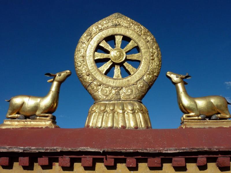 Dharmacakra and Deer Emblem, Jorkong Temple, Lhasa