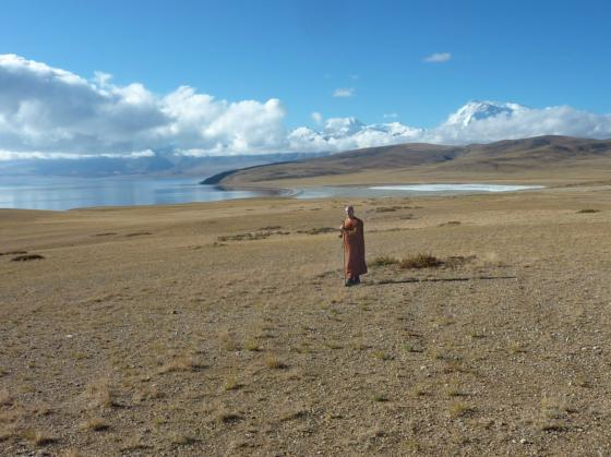 At Lake Manasarovar