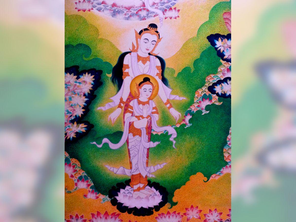Mayadevi and the Bodhisatta