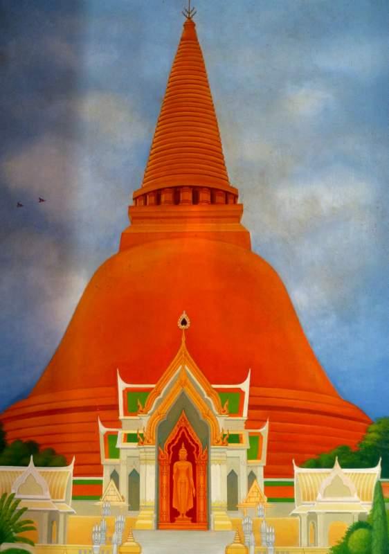 Murals At Wat Thai Bodhgaya Buddhagaya