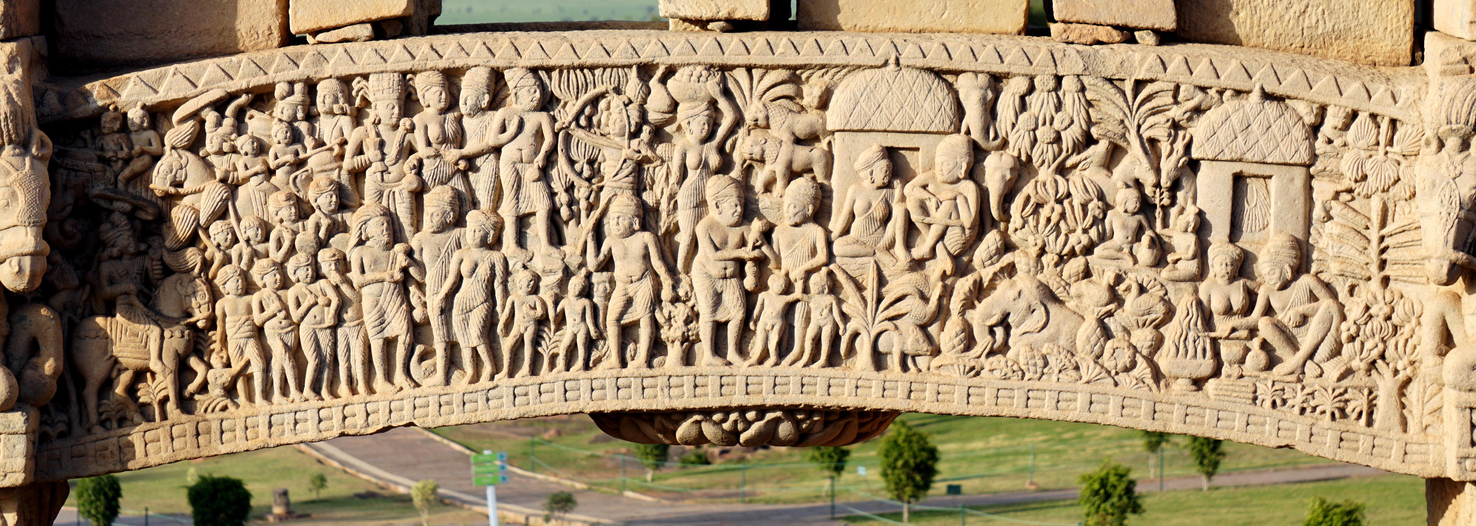 North Gate of Stupa no. 1 at Sanchi, Madhya Pradesh