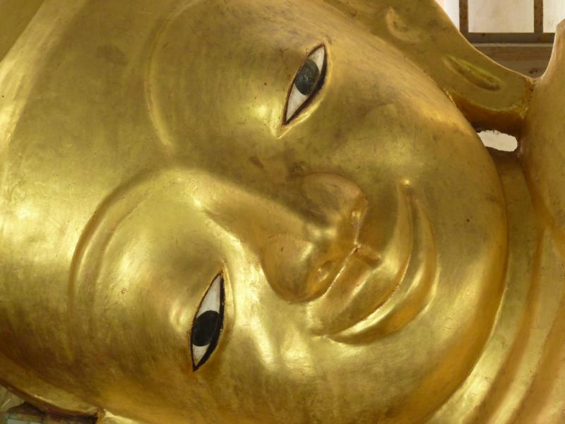 Reclining Buddha from Shwezigon Pagoda, Bagan, Myanmar