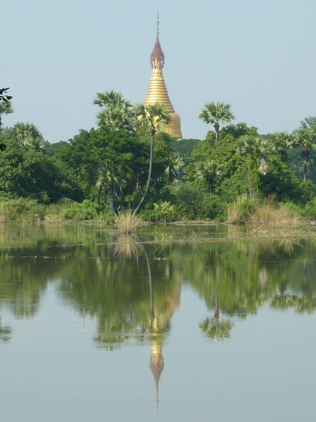 Inwa Lake and Pagoda
