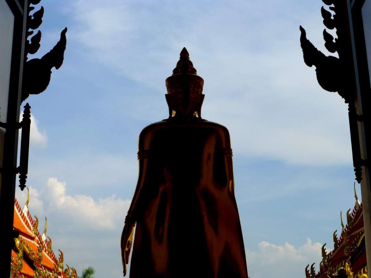 Buddha Surveying the Temple