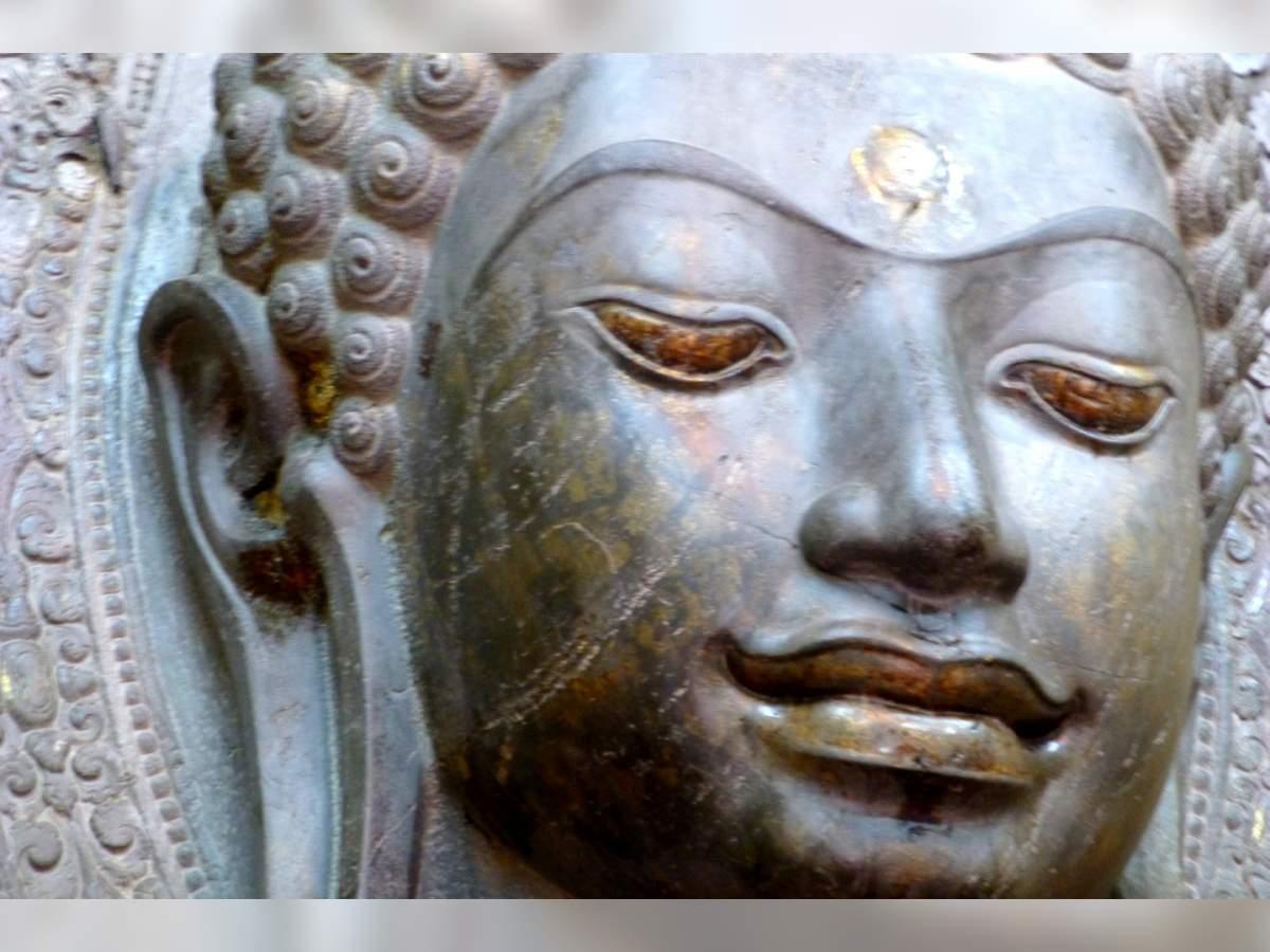 Buddha Face, Wat Na Phraname