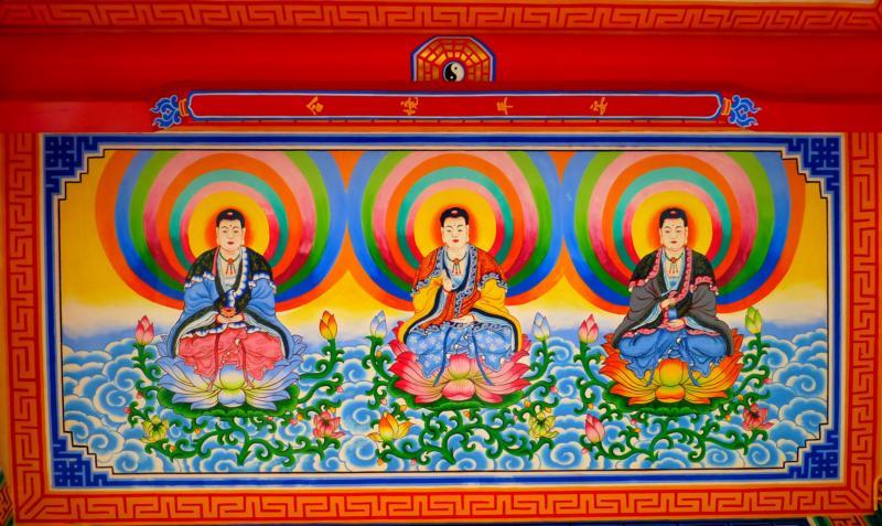 Amitabha, Sakyamuni and Kuan Yim