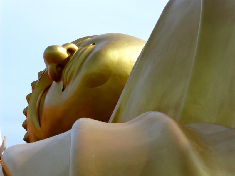 Reclining Buddha Angle Shot