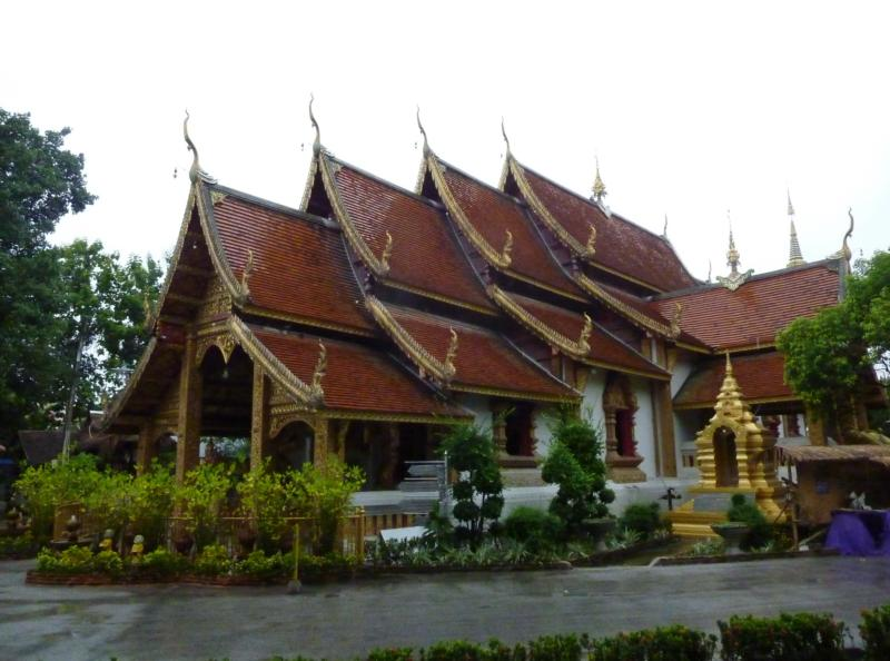 Main Viharn on a Rainy Day