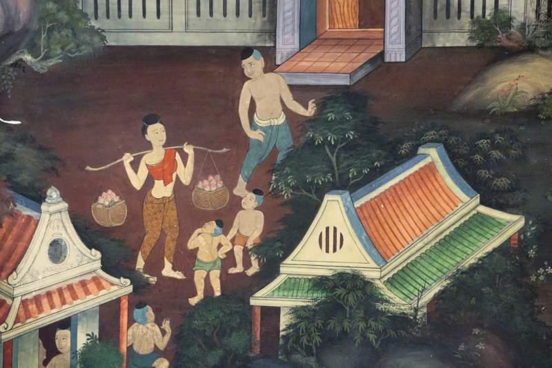 Detail of Citta Mural, Wat Pho