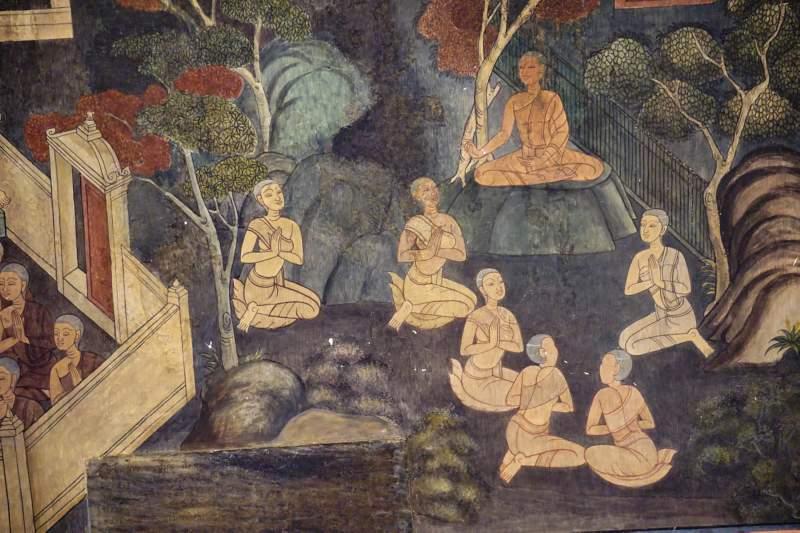 Detail of Nakulapita Mural, Wat Pho